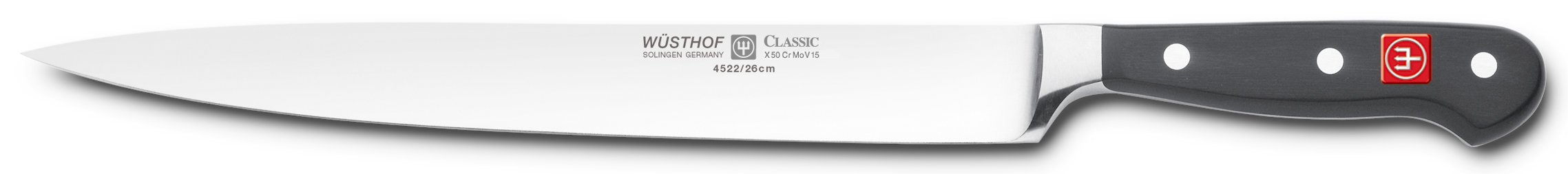 Wusthof 4522-7/26 CLASSIC Carving Knife One Size Black, Stainless Steel