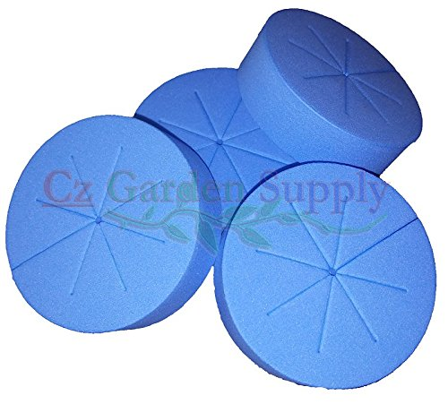Cloning Collars Net Pot Inserts 25ct. PREMIUM GRADE Foam Better Than Neoprene. Fits 3 inch Net Cups/Pots for Hydroponics Plant Germination for DIY Cloners by Cz Garden Supply