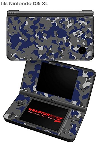 Nintendo DSi XL Skin WraptorCamo Old School Camouflage Camo Blue - Blue Ds Nintendo Navy