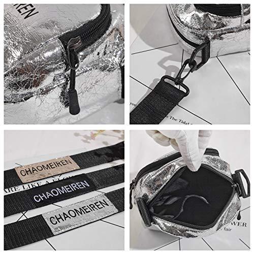 Lettres Tendance Impression Transparent Couleur Laser rétro Jelly carré de Paquet Femme Petit Sac Sac Contraste Paillettes Couture Sac PwXT0q8