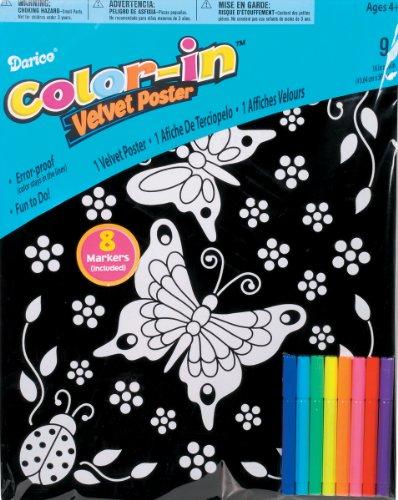 Velvet Poster Butterfly (Darice 16-Inch by 20-Inch Velvet Art Set, Butterfly and Ladybug)