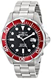 Invicta Men's 12565X Pro Diver Black Carbon Fiber Dial Stainless Steel Watch