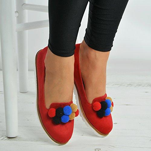 mujer con Fashion Red cu Sandalias Cucu a qgBzK8XFKw