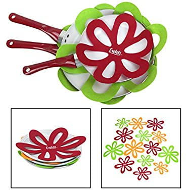 Evelots Felt Pan Protectors - Kitchenware Surface Protector All Sizes Set Of 14