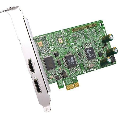 AVerMedia HD DVR High Definition / Analog Video Capture Card PCI-E, HDMI, RCA Composite, Component,  S-Video, Win 10 (C027)