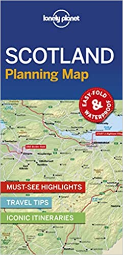 Lonely Planet Scotland Planning Map 1st Ed.