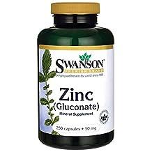 Swanson Zinc Gluconate (50mg, 250 Capsules)
