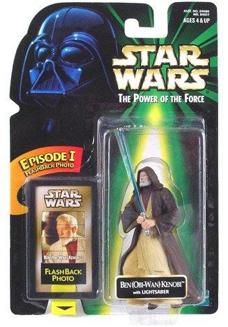 (Star Wars Power of the Force Obi Wan Kenobi Flashback Photo with Lightsaber)