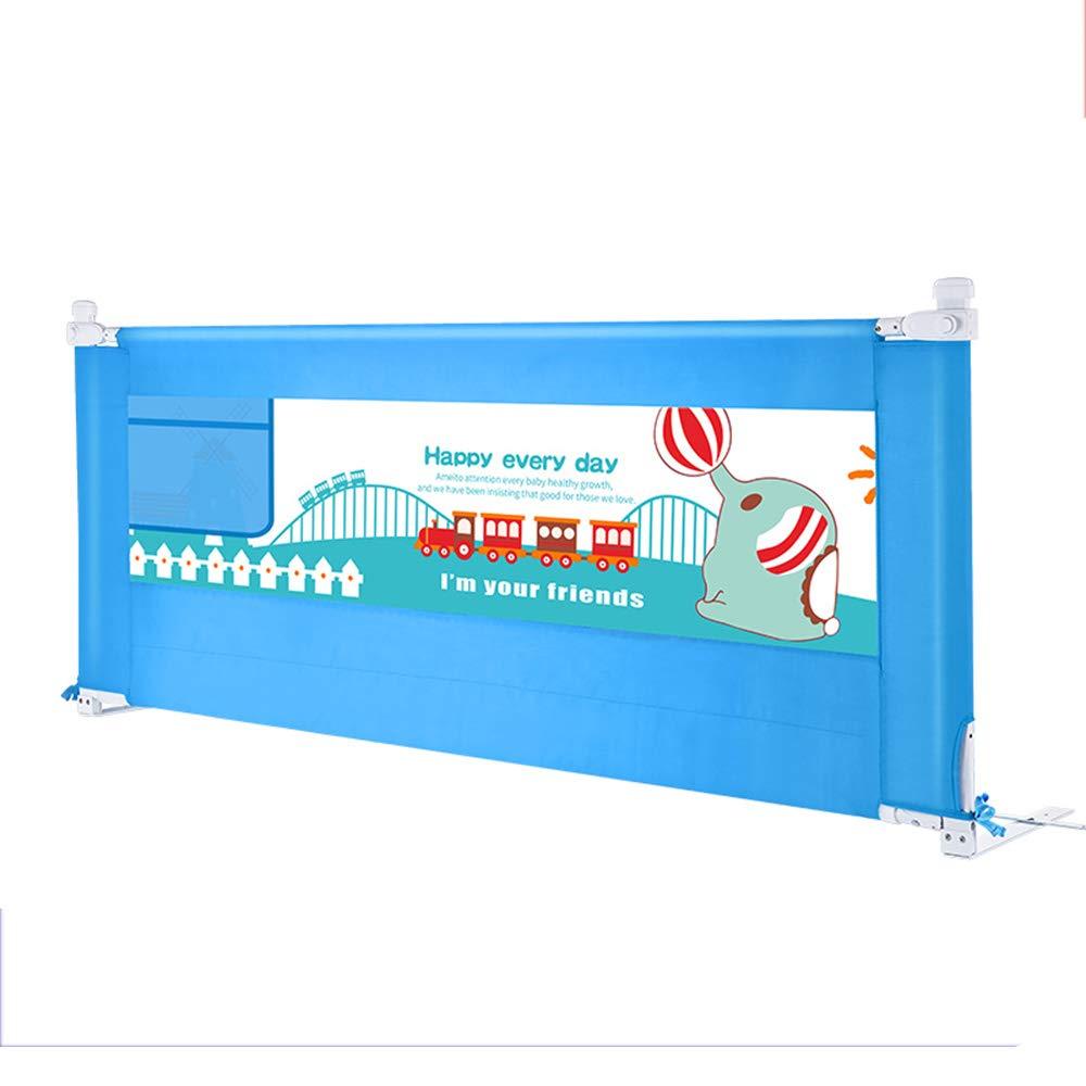 LHA ベッドガードフェンス 幼児用の超高層ベッドレール、家族向けの折り畳み式の幼児用ベッドレール、ホテル、トラベルダブルベッド (色 : 青, サイズ さいず : L-200cm) L-200cm 青 B07L9MQXWB