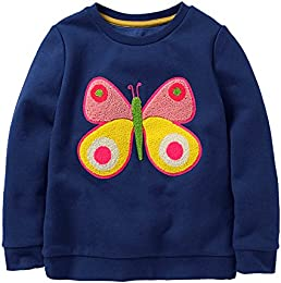 Baby Girl Cotton Long Sleeved Pullover Sweatshirt