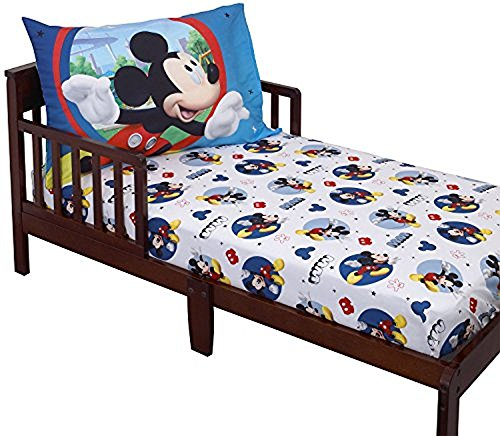 Disney Mickey Mouse Toddler Sheet Set (Bed Mickey Mouse Toddler Sheets)