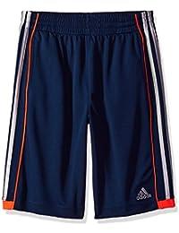 Big Boys' Athletic Short, Navy/Orange, X-Large