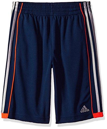 adidas Boys Big Athletic Short, Navy/Orange, L (14/16)