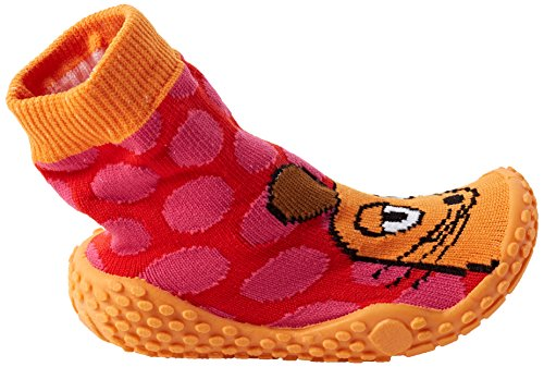 Playshoes Aqua-Socke Badeschuhe DIE MAUS Punkte - Zapatillas Niñas Pink (original 900)