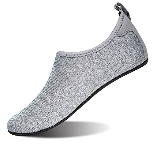 Sparkly Silver Water Mens Lightweight FEETCITY Barefoot Swim Shoes Yoga Shoes Beach Aqua Womens for gxw6Z
