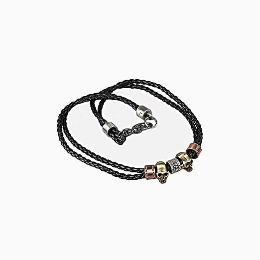 PiPisun - Collar con Corbata para Hombre, diseño de Calavera de ...
