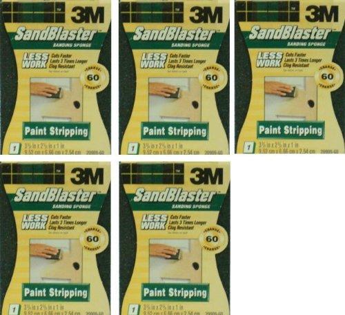 5 New 60 Coarse 3M Sandblaster Sanding Sponge (Block)
