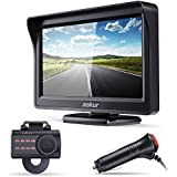 aokur Quick Installation Car Backup Camera, No Screws Needed IP68 Waterproof Night Vision License Plate Camera Wide Angle, with 4.3 LCD Monitor Pickup Truck Camper Parking Reverse Assistance System