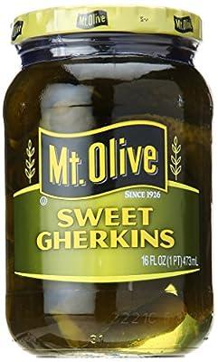 MT. OLIVE Sweet Gherkins Pickles, 16 oz