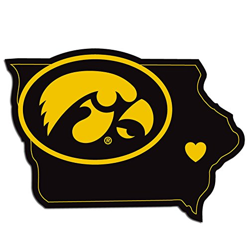 NCAA Iowa Hawkeyes Home State Decal, 5