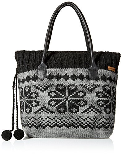 Tibetan Handbag Wool - Laundromat Women's  Eva Handbag, Black, One Size