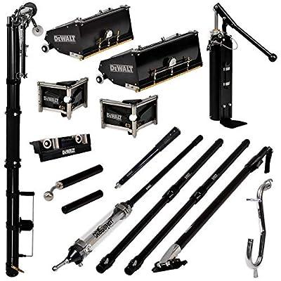 "DEWALT PRO MEGA Automatic Taping/Finishing Set - Med. Length Extendable Handles | Auto Taper, MudShot, 10/12"" MEGA Flat Boxes, 3/3.5"" Angle Heads, Corner Roller, Handles, Pump, Gooseneck | 2-616"