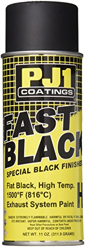 Pj1 Paint (PJ1 16-HIT Flat Black Hi-Temp Spray Paint (Aerosol), 11 oz)