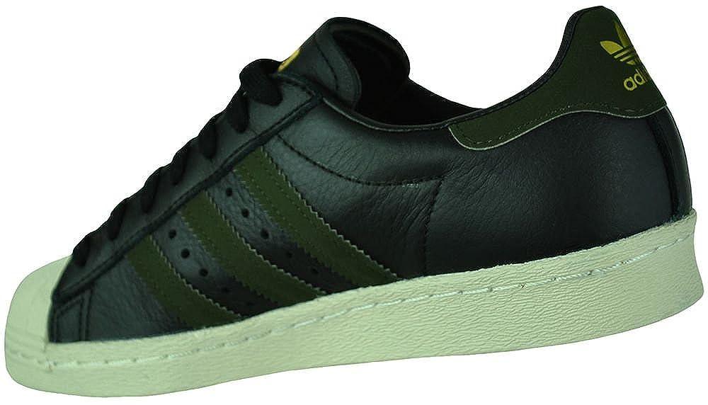 official photos eb988 ac2c3 Amazon.com   Adidas Superstar 80s Originals Trefoil Mens Sneaker Sports  Shoes Black Green, Sizes EU 39 - UK 6 - US 6.5   Fashion Sneakers