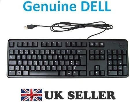 Dell - Teclado compatible con Dell 7Y21T, DJ567 y D247N (distribución portuguesa, USB), color negro