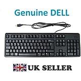 Genuine Original DELL USB Keyboard BLACK SLIM , PORTUGUESE Layout , Dell P/Ns : Dell P/N : 7Y21T , DJ567 , D247N