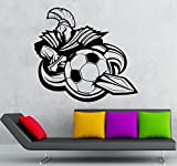 Wall Sticker Vinyl Decal Soccer Sport Mascot Room Decor (ig1928)