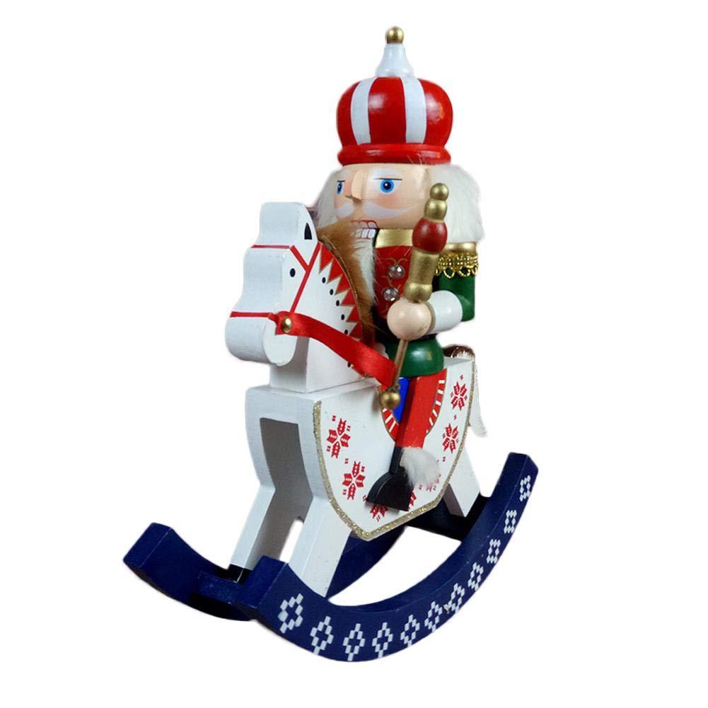 kioski 30cm Schiaccianoci Set di Ornamenti Schiaccianoci in Legno Soldato Puppet Toy Decorazioni per Appendere Gli Ornamenti Natalizi