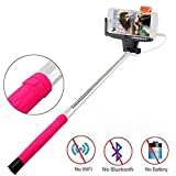 Selfie Stick,URPOWER® Extendable Wireless Bluetooth Rechargeable Self-portrait Monopod with Remote Shutter Function Self Pole Handheld Monopod for iPhone 6s 6s Plus 6 6 Plus 5 5s 5c, Android