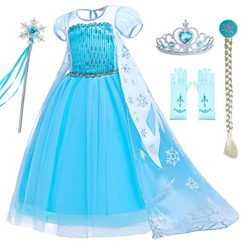 Party Chili Princess Dress Up for Girls Birthday Costumes with Accessories 2-11 Years