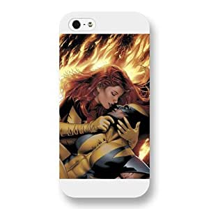 UniqueBox Customized Marvel Series Case for iPhone 5 5S, Marvel Comic Hero Marvel Girl Jean Grey iPhone 5 5S Case, Only Fit for Apple iPhone 5 5S (White Frosted Case)