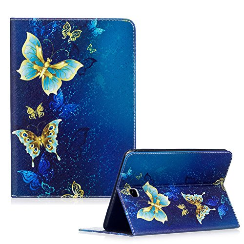 For Samsung Galaxy Tab A 8.0 SM-T350 Case,Funyye Beautiful New 3D Pattern Premium PU Leather with Magnetic Clouse Flip Folio Book Stand Case for Samsung Galaxy Tab A 8-Inch Tablet SM-T350-Blue Butterflies