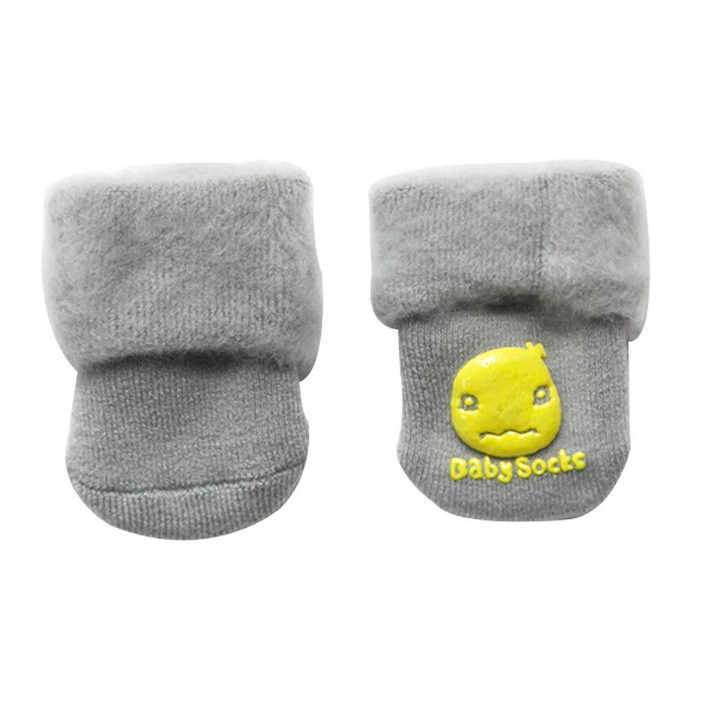 YuYe Arrive Before Christmas Newborn Baby Boy Girl Winter Warm Plush Cotton Soft Toddler Anti-Slip Socks
