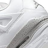 Men's Jordan 4 Retro White Oreo White/Fire Red-Tech