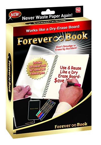As Seen on TV Forever Book Reusable Whiteboard Notebook (FB-MC12)