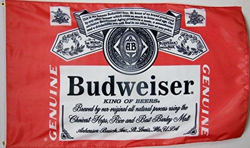 Nuge Budweiser Beer Flag 3