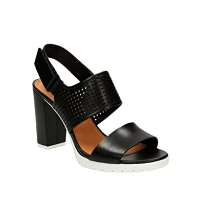 715a27678c6c CLARKS Women s Pastina Malory Black Leather Sandal 7.5 B ...