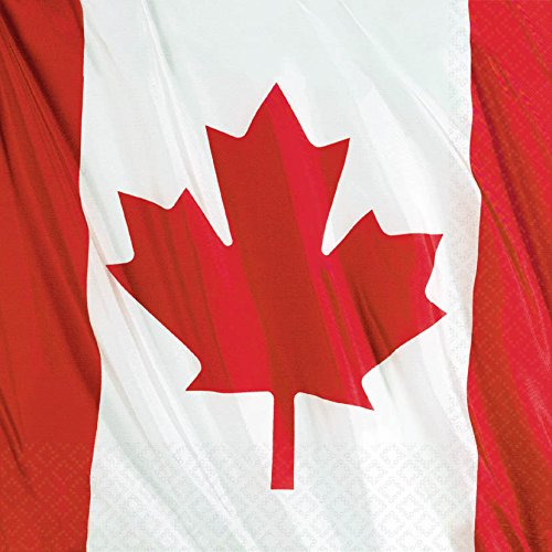 Canadian Waving Flag Luncheon Napkins Package of 20 by Amscan -