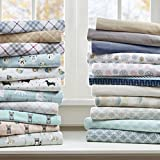True North by Sleep Philosophy Cozy Flannel Sheet Set Multi Forest Animals Queen
