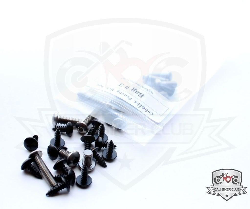 Fasteners Ninja 2007-2008 CaliBikerClub 5559091114 Bolts Kawasaki ZX6r 07-08 Motorcycle Fairing Bolt Kit Screws