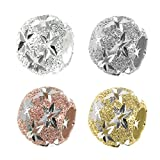 Dreambell 925 Sterling Silver Twinkle Star Stardust Bead For European Charm Bracelets