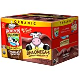 Horizon Organic Low Fat Organic Milk Box Plus DHA Omega-3, Chocolate, 8 Ounce (Pack of 12)