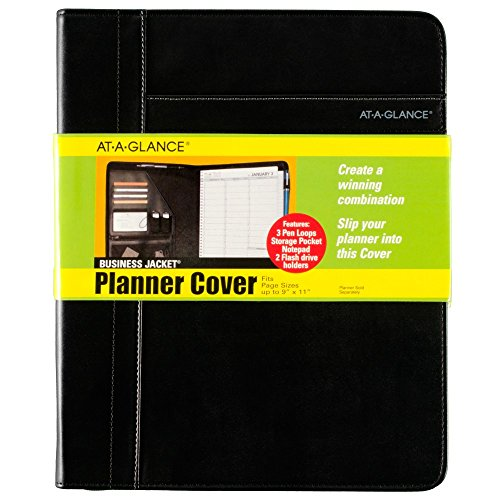 AT-A-GLANCE Professional Size Planner Cover, Fits up to 9 x 11 Inch Pages, Assorted Colors - Color May Vary(80PJ20-00) ()