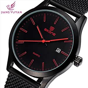 ZA 2015 New Fashion Casual SKONE Brand Business Watches Men Luxury Watch Quality Student Qaurtz Wristwatches(Delivery color random)