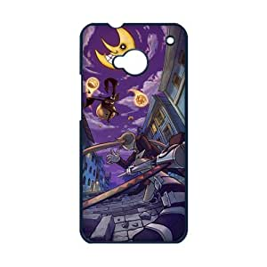 MeowStore Japanese Cartoon Soul Eater Blair Maka Albarn Horror Moon Face Bloody Phone Case For HTC ONE M7 Black