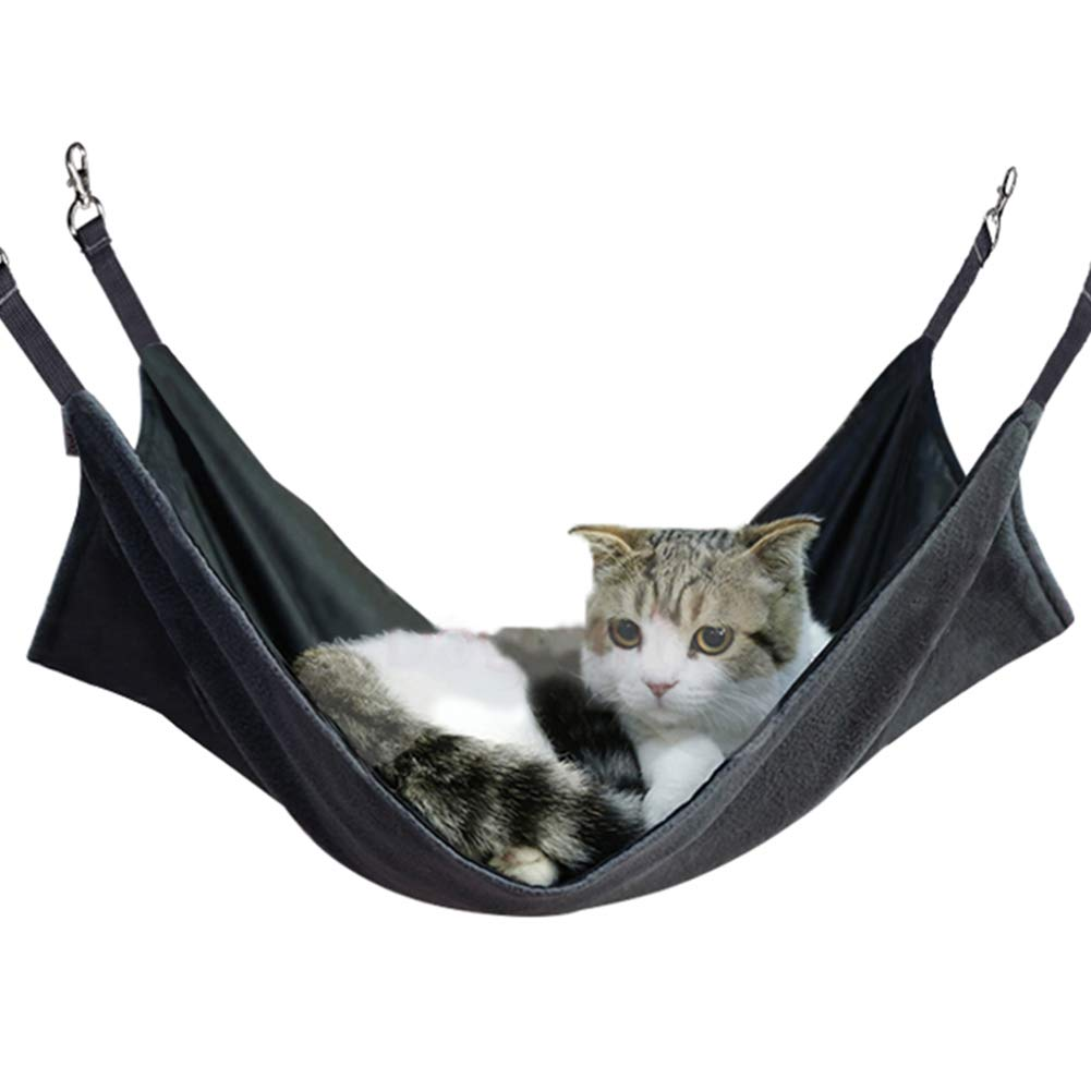 Other Small Animals L x W Breathable Pet Cage Hammock with Adjustable Straps and Metal Hooks Puppy 56 X 48cm Ferret ComSaf Reversible Cat Hammock Double-sided Hanging Pet Hammock Bed for Cats